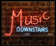 Music Downstairs Neon Sign 1